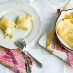 Rollitos  de  puerros  y  queso  de  cabra. (Falsos  Crepes)
