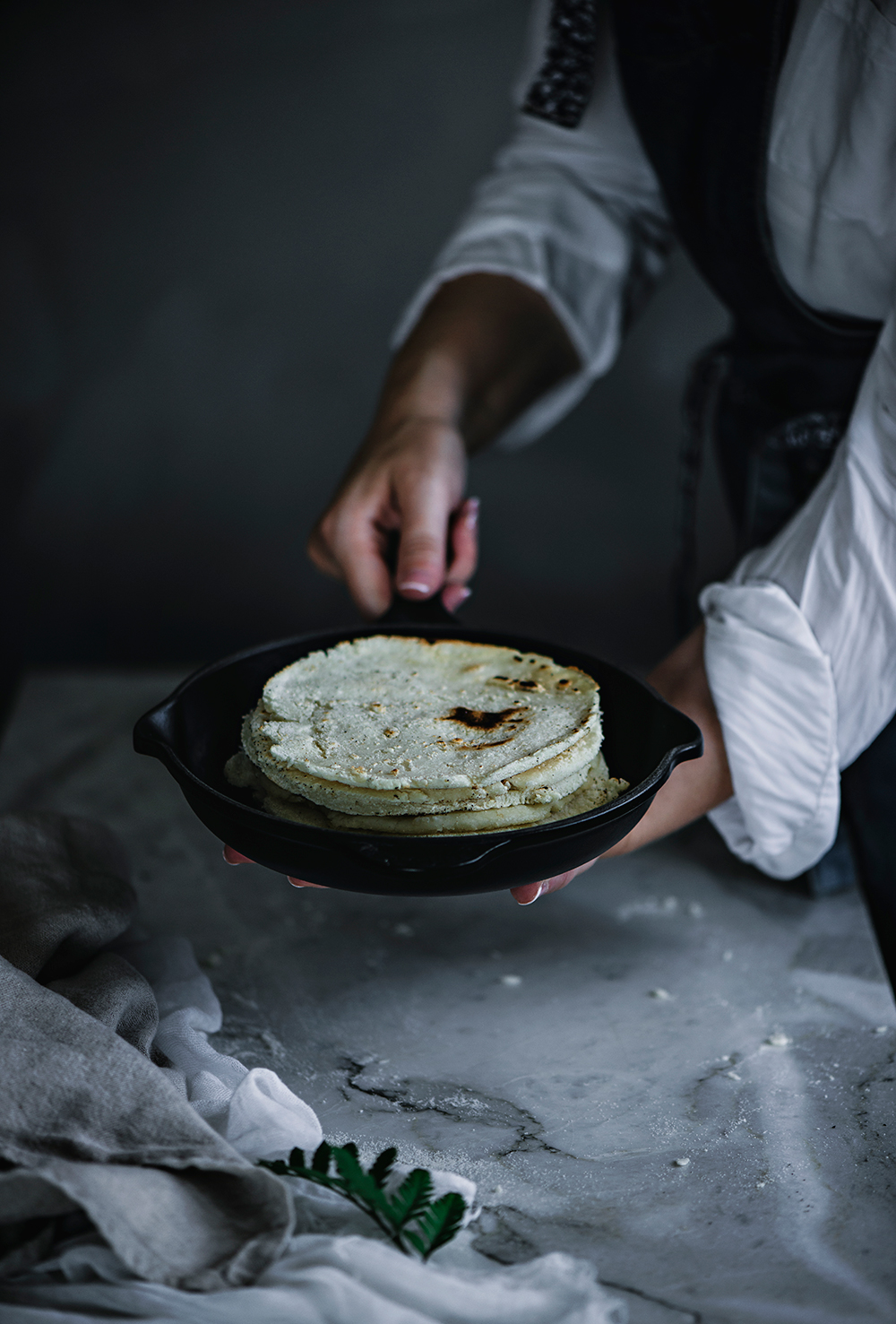 Tortitas con harina de maíz