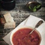 Sopa de tomate con tomates asados