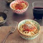 Espaguetis con salsa de tomate casera,Paseo por Ronda
