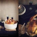 Pollo de campo o de corral en cocotte.