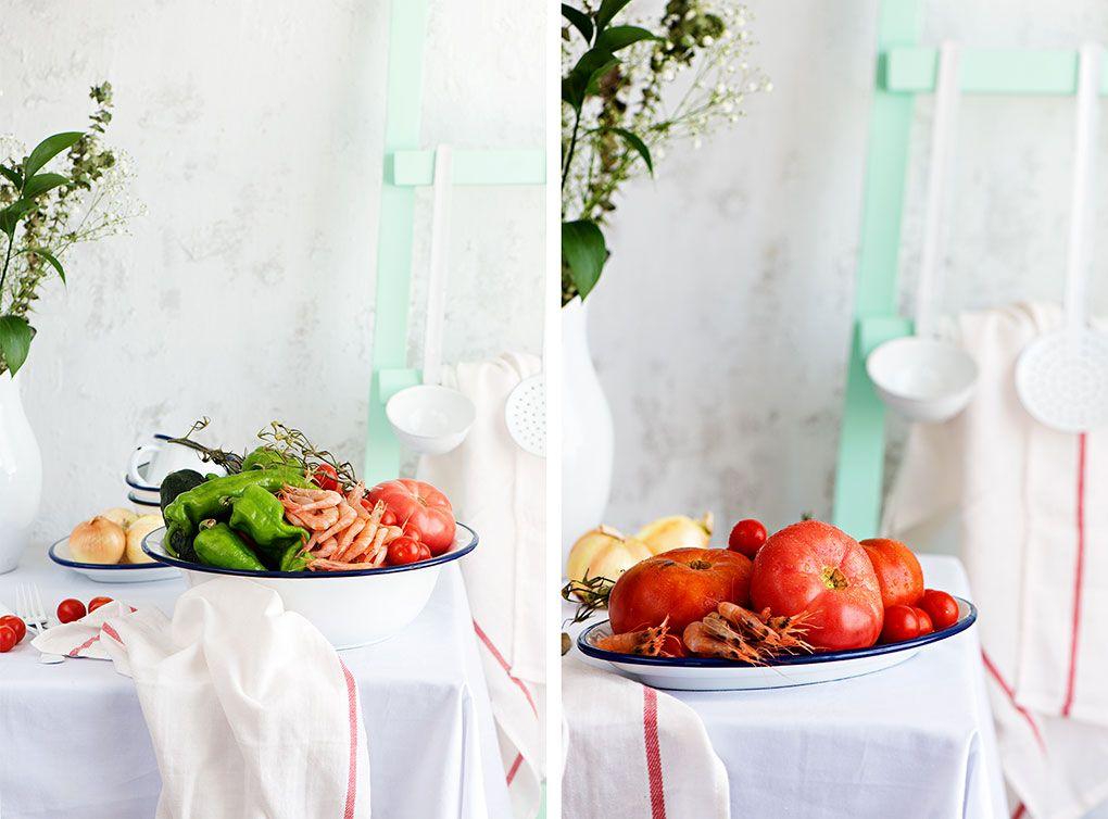 Preparación del salpicón de marisco