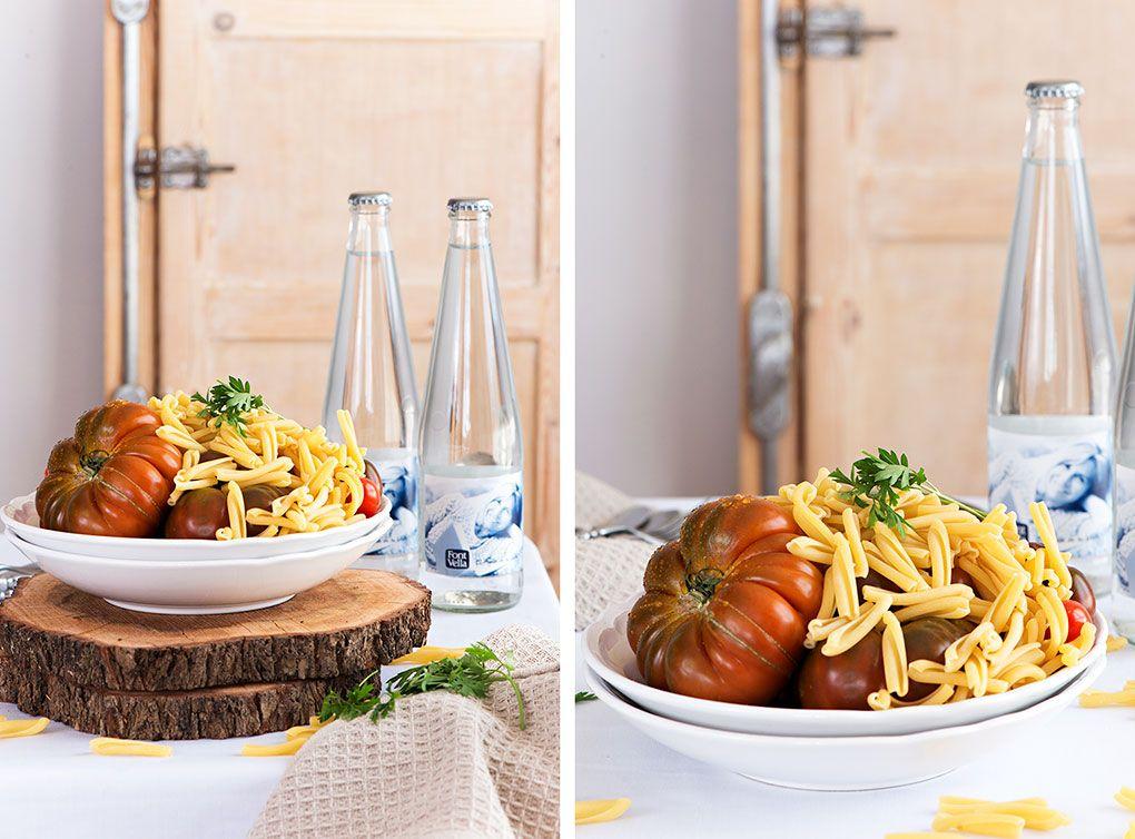Ingredientes para la ensalada de pasta