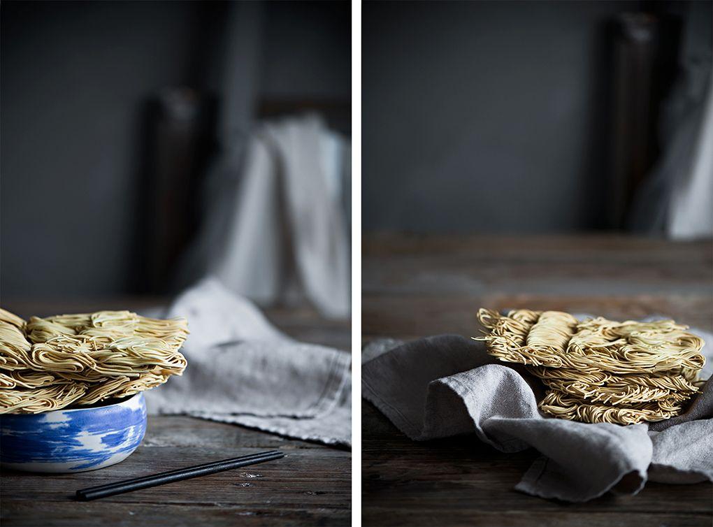 Receta de Fideos chinos con setas