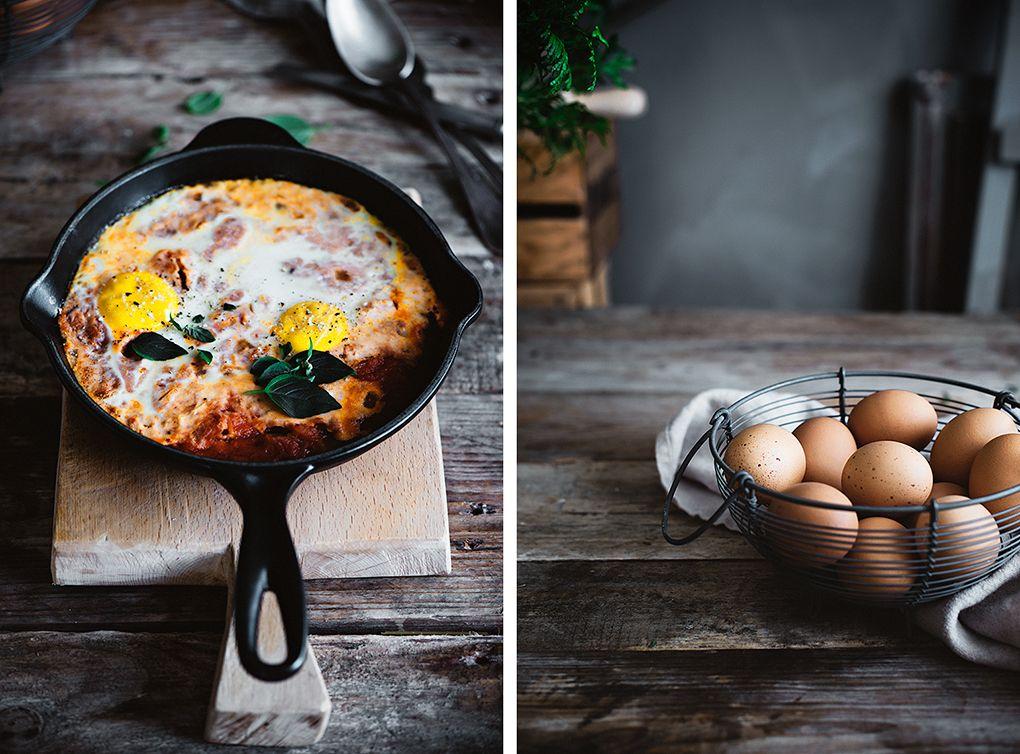 Ingredientes para hacer huevos al plato al horno