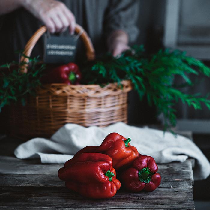Pimientos rojos asados al horno