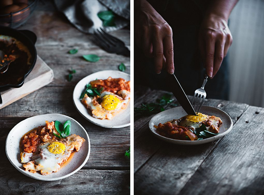 Huevos al plato receta casera
