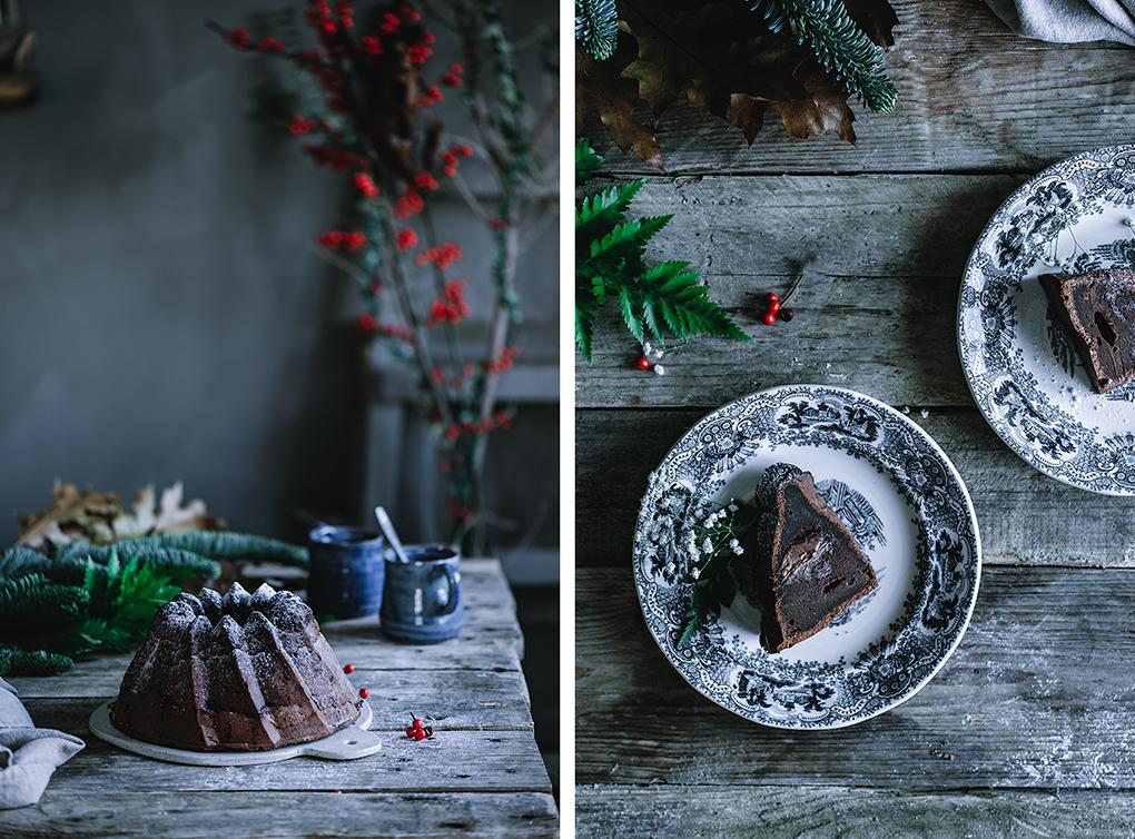 Bundt cake o bizcocho de chocolate