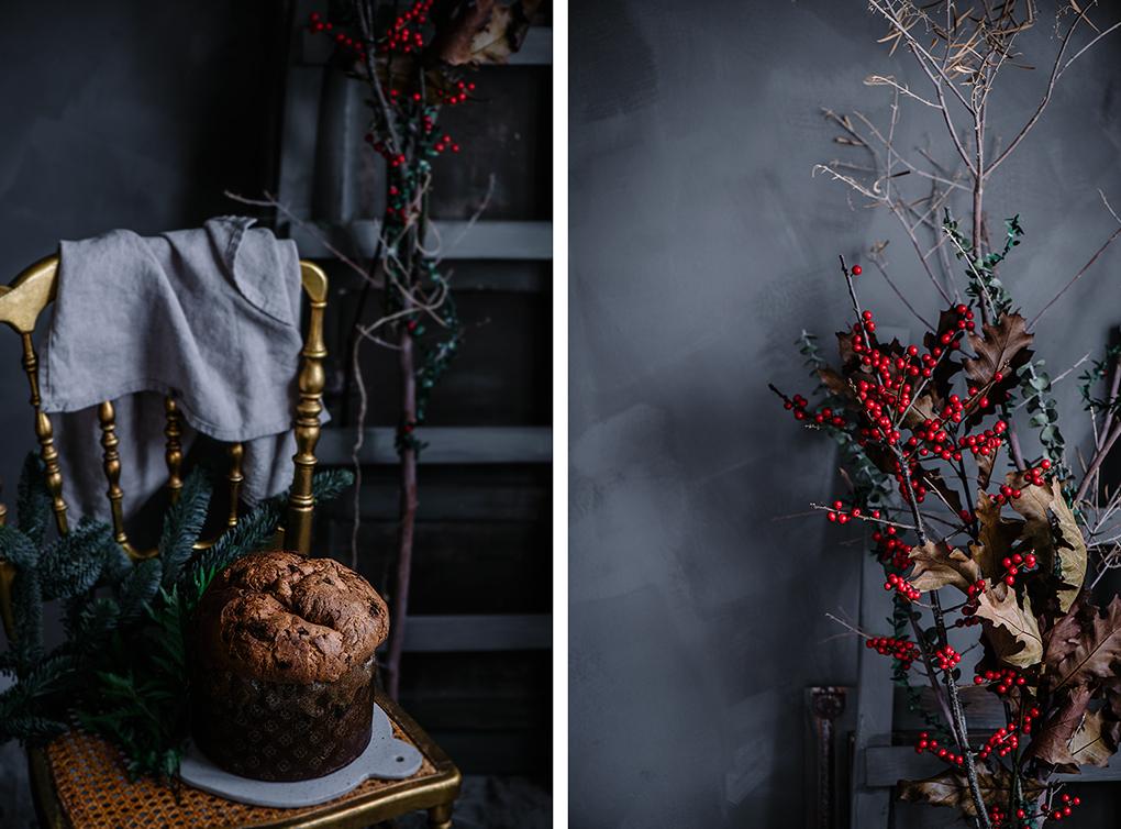Panettone casero o pan dulce de navidad