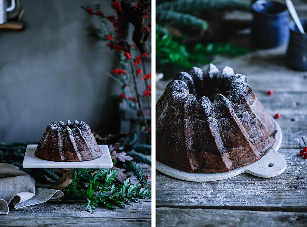 Bundt Cake de chocolate relleno de crema de cacao