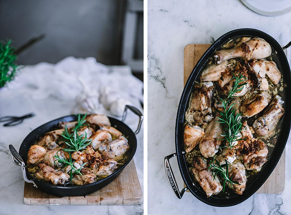 Receta de pollo al ajillo al horno