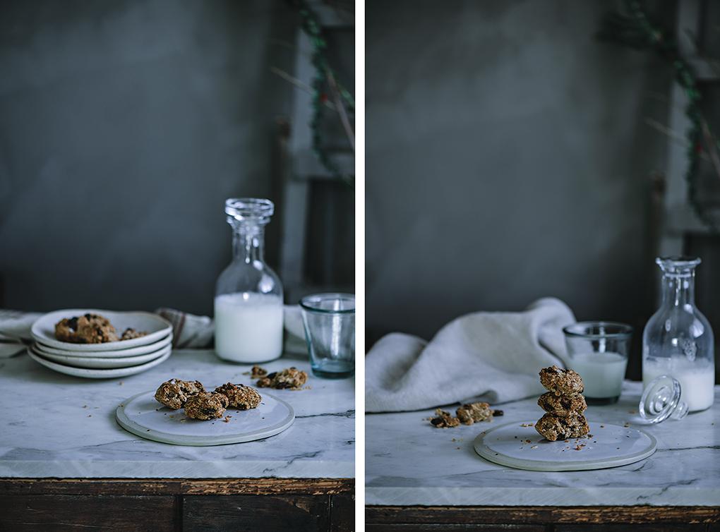 receta de galletas con avena