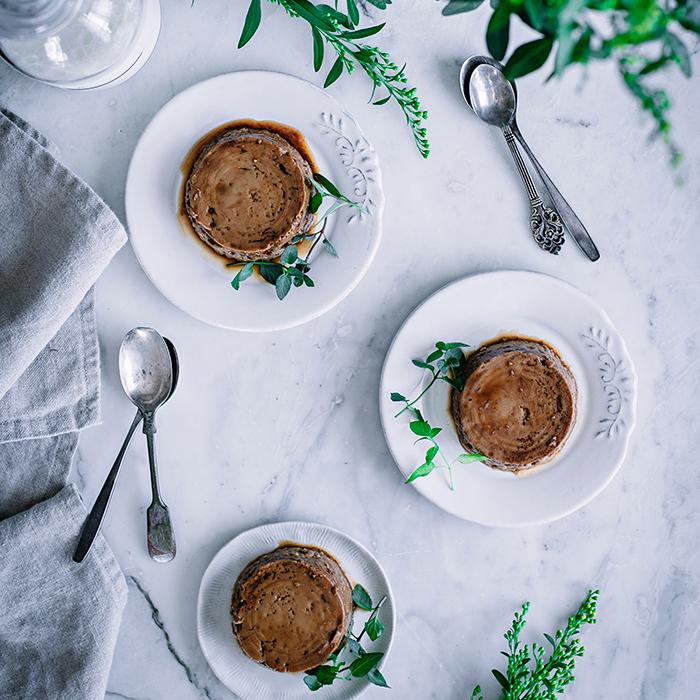 Receta de flan de café casero