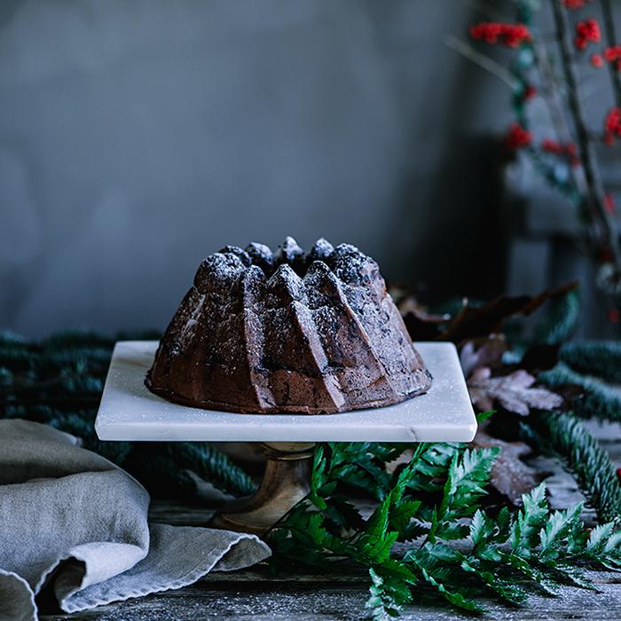 Bundt cake de chocolate y crema de cacao