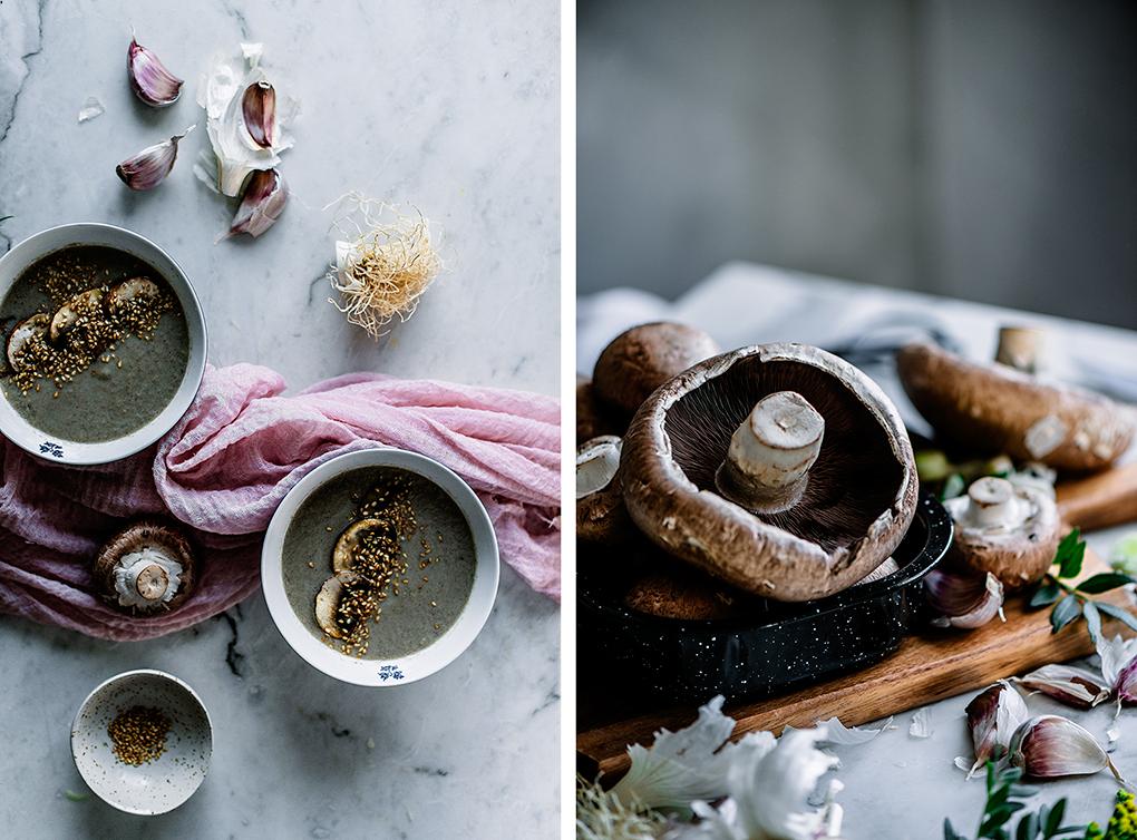 Cómo se hace la crema de champiñones con puerros