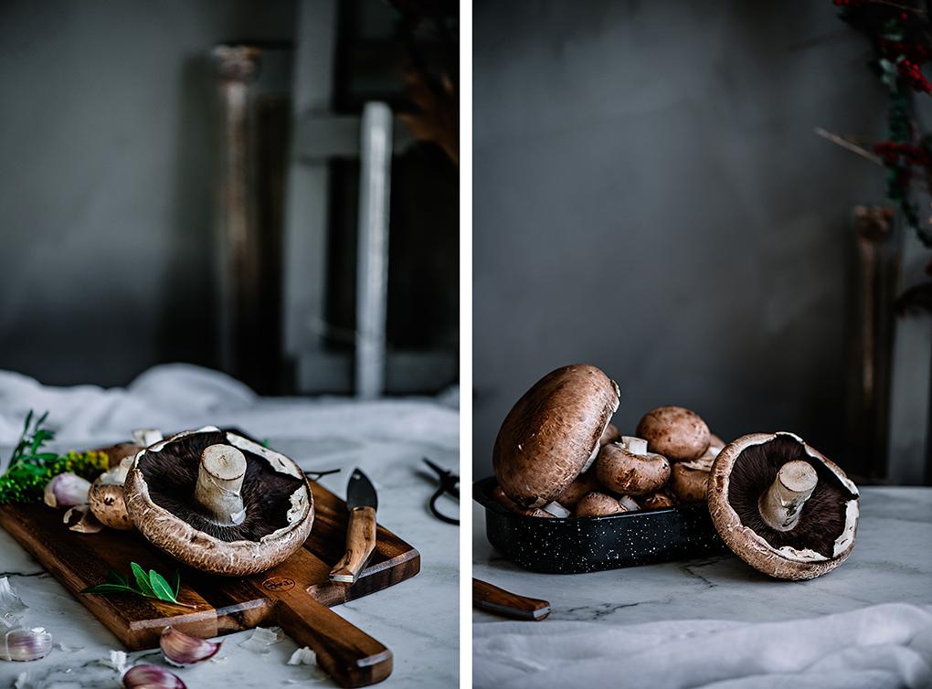 Ingredientes para la crema de champiñones