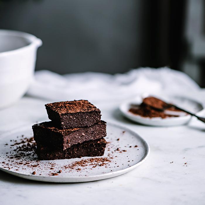 Brownie de chocolate con almendras sin azucar