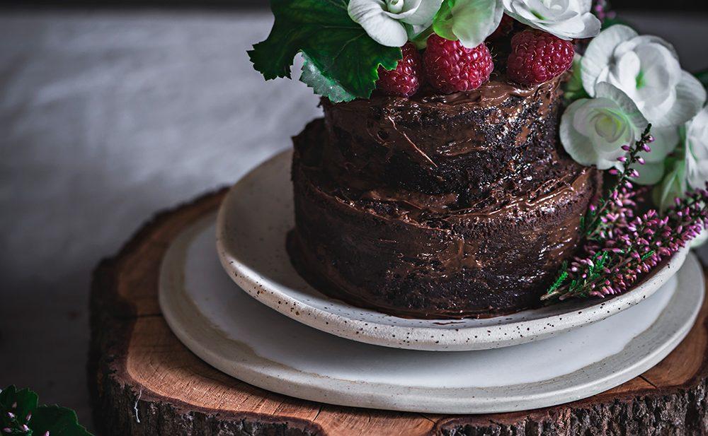 Tarta de chocolate con crema de cacao