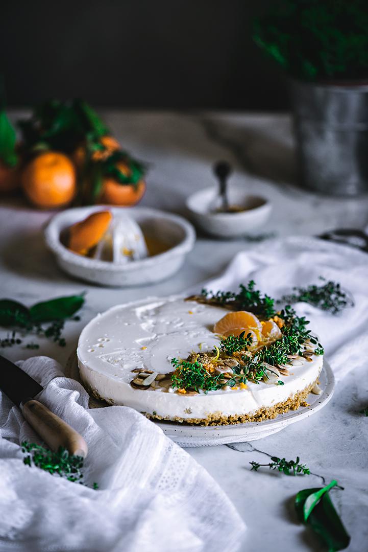 tarta de mandarinas sin horno