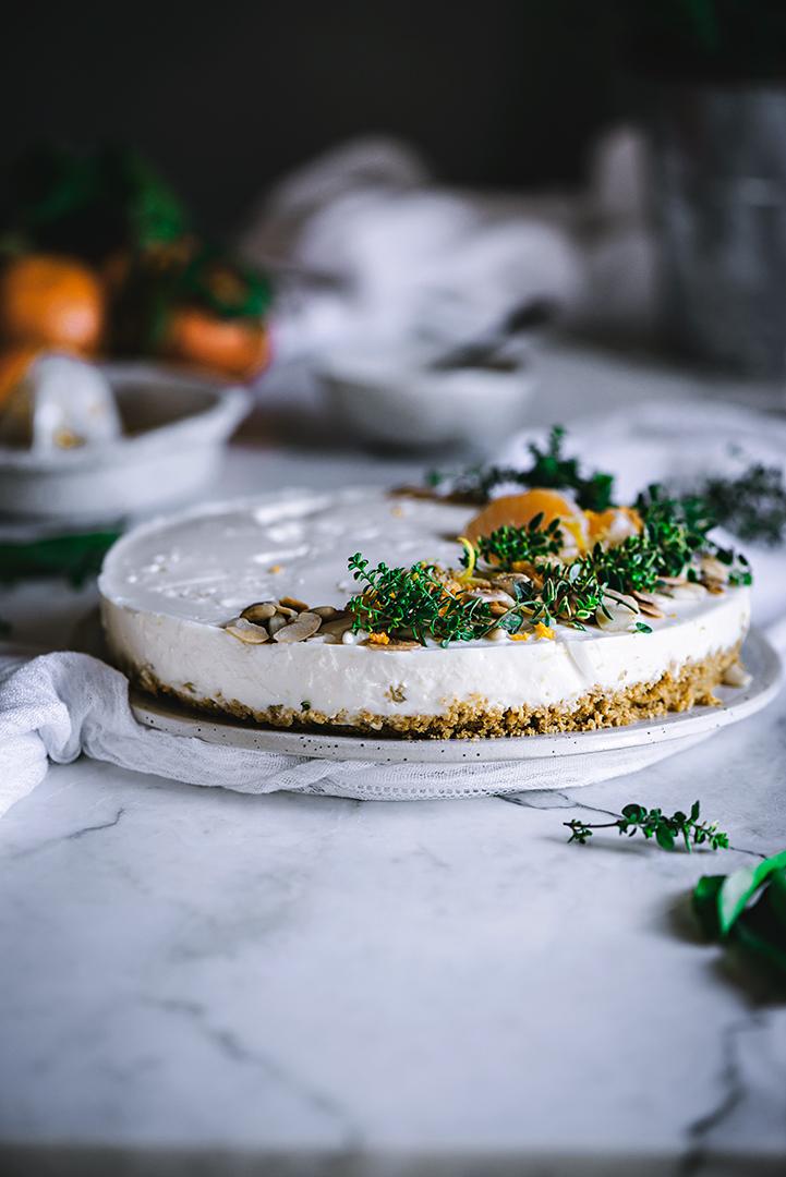 como preparar la tarta de mandarinas fría