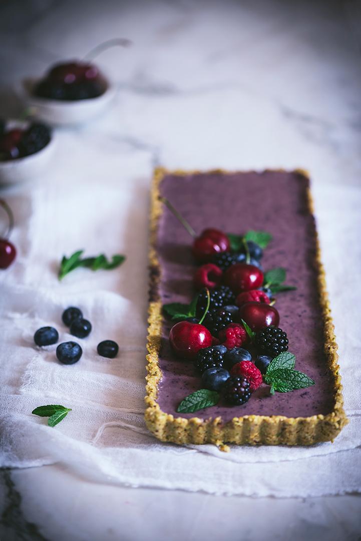 tarta-saludable-de-arándanos